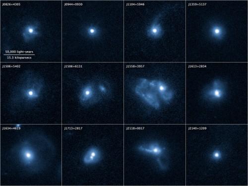Die in der Studie untersuchten wechselwirkenden Galaxien (Bild: NASA, ESA, Z. Levay (STScI), and P. Sell (Texas Tech University))