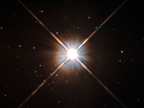 Proxima Centauri, unser Nachbarstern (Bild: ESA/Hubble & NASA)