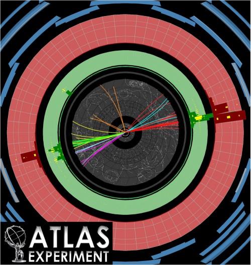 Ein Beispiel für einen Dijet (Bild: ATLAS, CERN)