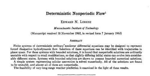 Der Beginn der modernen Chaosforschung... (Lorenz, 1963)