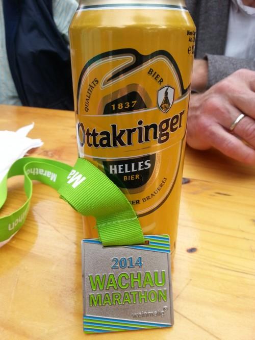Erholung (mit entsprechenden Getränken) ist auch nach dem Marathon dringend nötig!