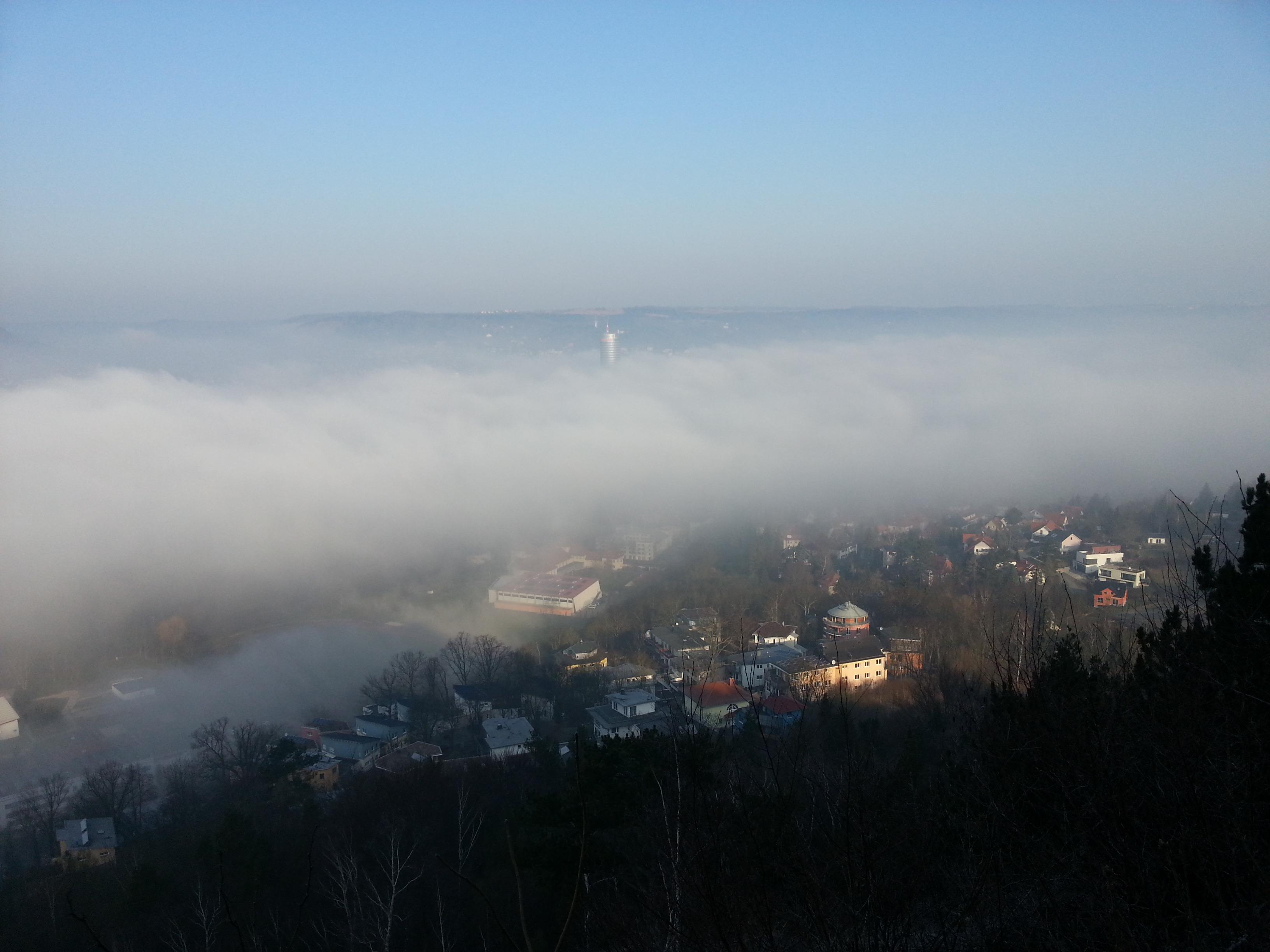 wo entsteht am meisten nebel