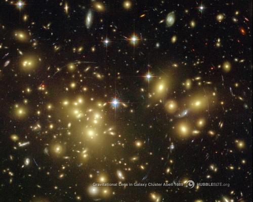 Ein Galaxienhaufen. Aber sind das auch ein Haufen Galaxien?