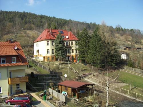 """20. März 2005: Blick vom Balkon des Uni-Gästehaus """"Am Herrenberge""""."""