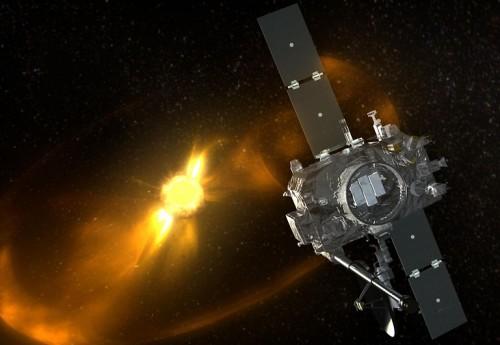 STEREO beobachtet die Aktivität der Sonne (Fotomontage: NASA)