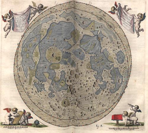 Mondkarte von Hevelius (Bild: gemeinfrei)