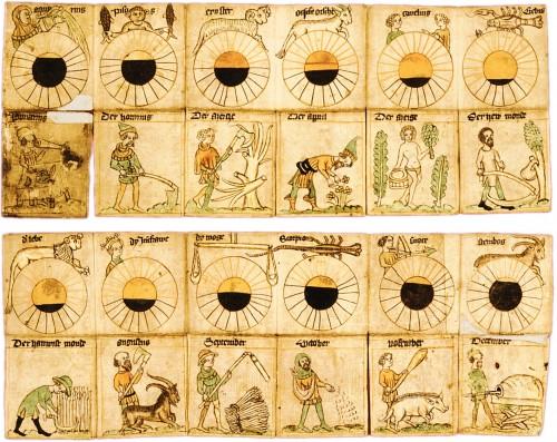Kalender mit Sternzeichen aus dem 15. Jahrhundert (Bild: gemeinfrei)