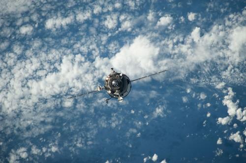 Progress M-22M beim Anflug auf die ISS - so hätte das eigentlich auch bei Progress M-27M laufen sollen... (Bild: NASA)