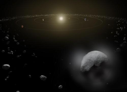 Asteroiden bringen das Wasser zu den Planeten (Bild: ESA/ATG medialab)
