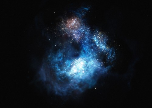 Künstlerische Darstellung von Cosmos Redshift 7 Bild: ESO/M. Kornmesser