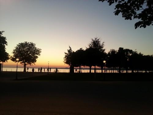 Sommerabend mit angenehmen Temperaturen in Bregenz am Bodensee