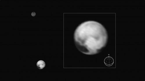 Pluto und Charon, aufgenommen am 1. Juli 2015 (Bild: NASA/JHUAPL/SWRI)