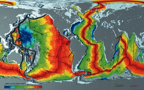 Ohne Tektonik geht nix! (Bild: NOAA, public domain)