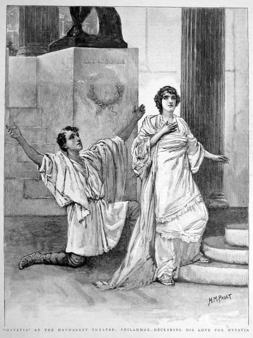 Hypatia auf einer Grafik aus dem Jahr 1893 (Bild: gemeinfrei)