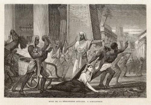 Der Tod der Hypatia. Bild aus dem Jahr 1865 (Bild: gemeinfrei)
