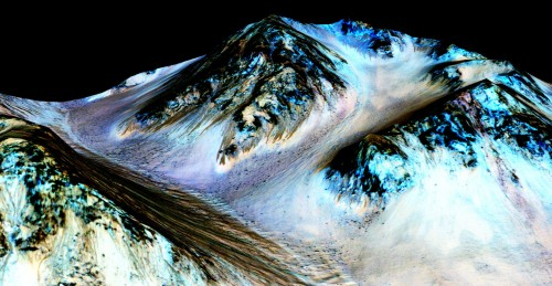 Wasser auf dem Mars! Bild: NASA/JPL/University of Arizona