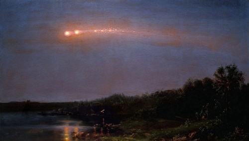 Frederic Church Meteor of 1860 (Bild: gemeinfrei)