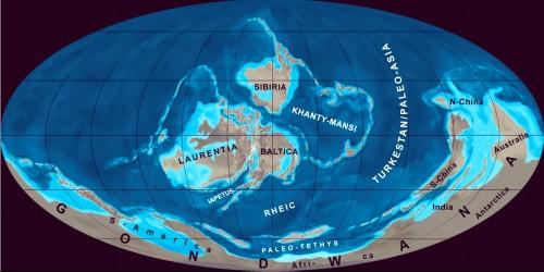 Die Erde vor 430 Millionen Jahren (Bild: Gretarsson, CC-BY-SA 3.0)