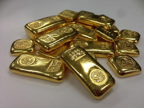 Goldbarren: Spürbar wertvoll. Bild: Public domain