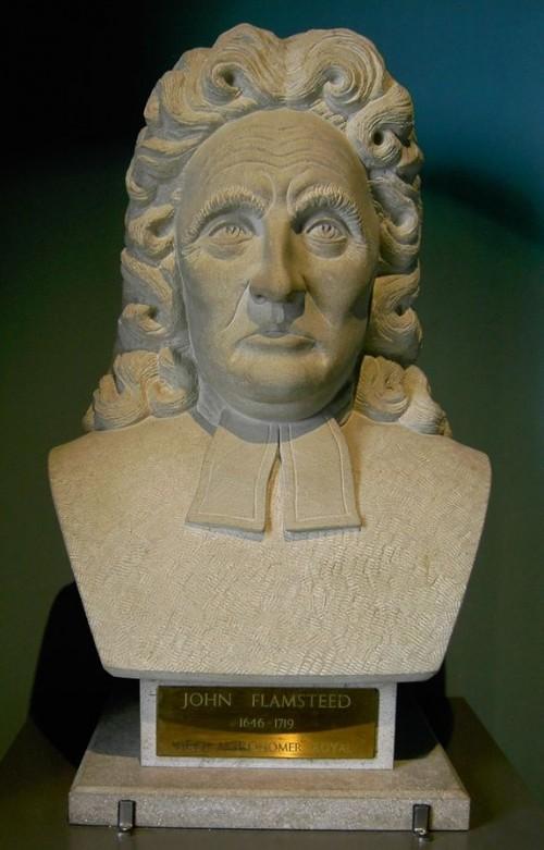 Warum John Flamsteed wohl so traurig schaut? Seine Kollegen waren nicht äußerst unfreundlich... (Bild: Public Domain)