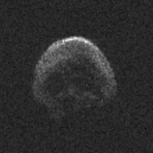 """Der """"Halloween""""-Asteroid im Radarbild eines großen Teleskops. Mit freiem Auge sieht man nix... (Bild: NAIC-Arecibo/NSF)"""