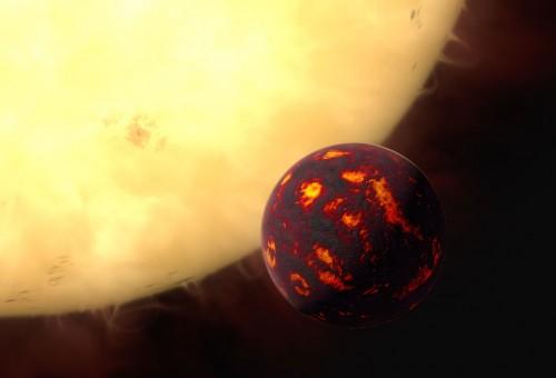 Künstlerische Darstellung von 55 Cancri e (Bild: ESA/Hubble, M. Kornmesser, CC-BY 3.0)
