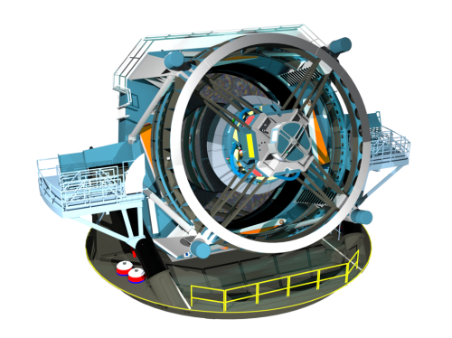 Modell des Large Synoptic Survey Telescope Bild: LSST Project Office, CC-BY-SA 4.0