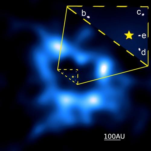 Bild: Booth et al., ALMA (NRAO/ESO/NAOJ).)