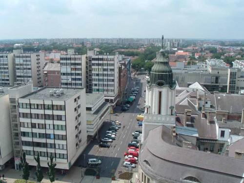 Debrecen von oben (Bild: Public Domain)