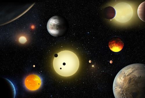 Hurra! Bei der NASA gibts viele neue künstlerische Darstellungen von Planeten; angeordnet in einem himmelsmechanisch komplett instabilen und überfüllten System! (Bild: NASA/W.Stenzel)