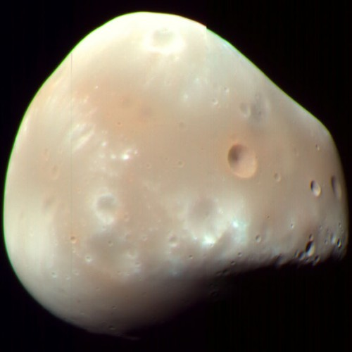 Der Marsmond Deimos (Bild: NASA/JPL-caltech/University of Arizona )