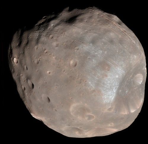 Phobos (Bild: NASA/JPL-Caltech/University of Arizona)