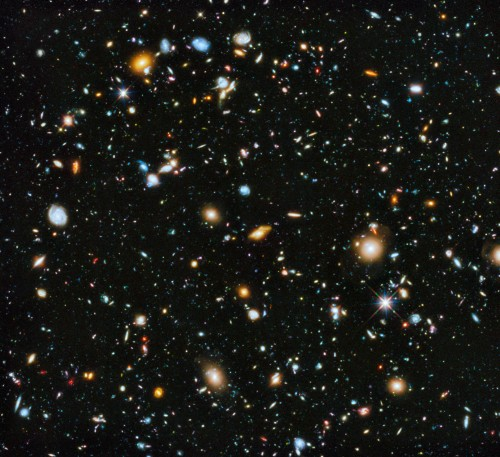 Das Hubble Ultra Deep Field (Bild: NASA, ESA, H. Teplitz and M. Rafelski (IPAC/Caltech), A. Koekemoer (STScI), R. Windhorst (Arizona State University), and Z. Levay (STScI))