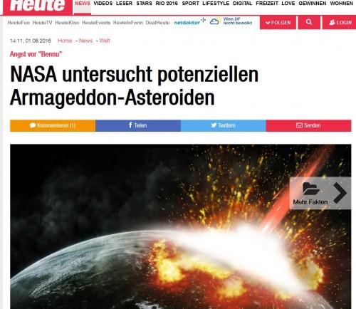Asteroiden! Asteroiden! Am 30. Juni ist der Internationale