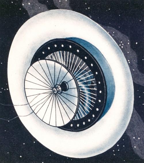 Hermann Potocniks Zeichnung seiner Raumstation (Bild: gemeinfrei)