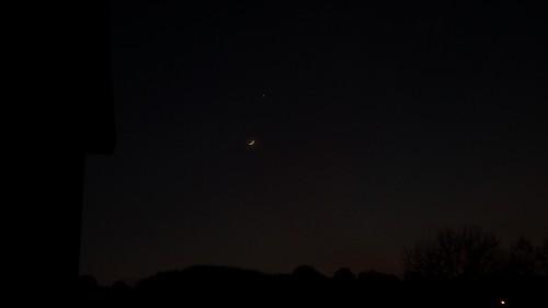Venus und zunehmender Mond im Mai 2015