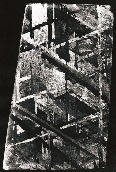 Widmanstättensche Figuren eines Meteoriten:  Von Hans Bernhard (Schnobby) - Eigenes Werk, CC BY-SA 3.0,                                                           https://commons.wikimedia.org/w/index.php?curid=6141078