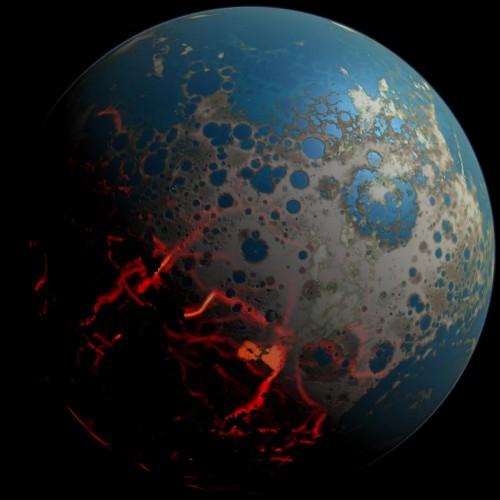 """Es gibt Hinweise darauf, dass Leben auf der Erde bereits während des """"Großen Bombardements"""" vor 4 Milliarden Jahren entstand. Bild: Simone Marchi. Courtesy NASA/JPL-Caltech."""