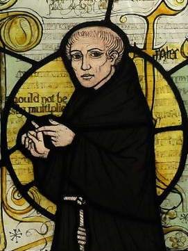 William von Ockham (ohne Rasiermesser) (Bild: Moscarlop, CC-BY-SA 3.0)