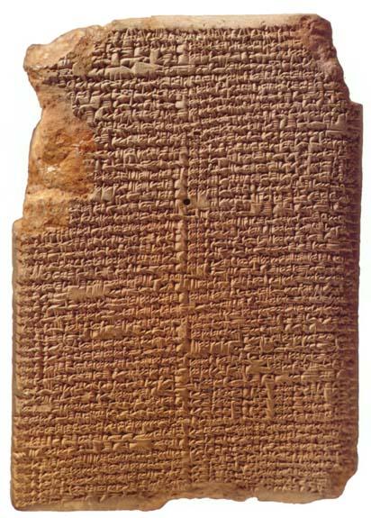 Keilschrifttafel mit astronomischen Aufzeichnungen (Bild: gemeinfrei)