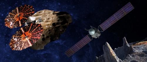 Lucy und Psyche: Zwei neue Missionen zu den Asteroiden! (Bild: SwRI and SSL/Peter Rubin)