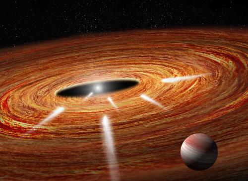 So sieht es - vielleicht - aus bei HD 172555 (Künstlerische Darstellung: NASA, ESA, A. Feild and G. Bacon (STScI))