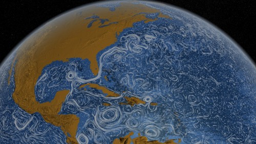 Strömungen sind überall! (Bild: NASA/Goddard Space Flight Center Scientific Visualization Studio)