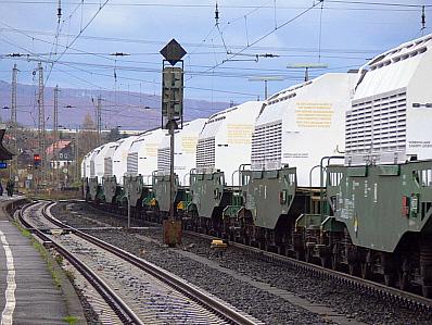 Für den Atommüll bleibt vorerst immer noch nur der Zug... (Public Domain)