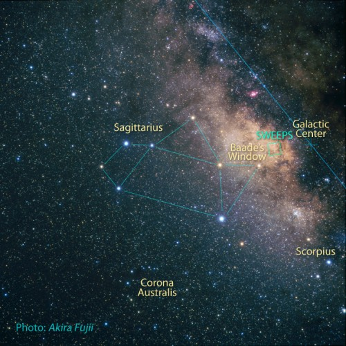Baades Fenster im Sternbild Schütze (Bild: NASA, ESA, Z. Levay (STScI) and A. Fujii)