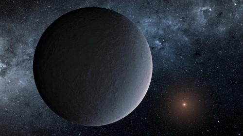 "Künstlerische Darstellung des neu entdeckten ""Eisball""-Planeten (Bild: NASA/JPL)"