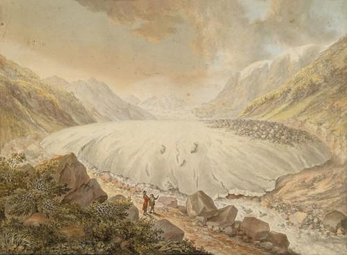 Die Pasterze im Jahr 1799 (Bild: Public Domain)