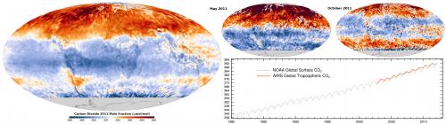 CO2 Gehalt in der Atmosphäre (2011) (Bild: Giorgiogp2, CC-BY-SA 3.0)