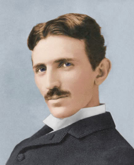 Nikola Tesla: Schafft es vielleicht in  die Top-10 der Schnurrbartträger aber sicher nicht in die Top-10 der Naturwissenschaftler! (Bild: Public Domain)