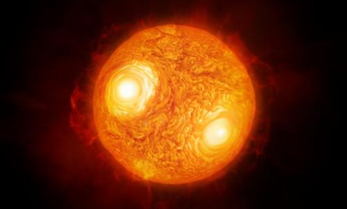 Künstlerische Darstellung von Antares (Bild: ESO/M. Kornmesser)